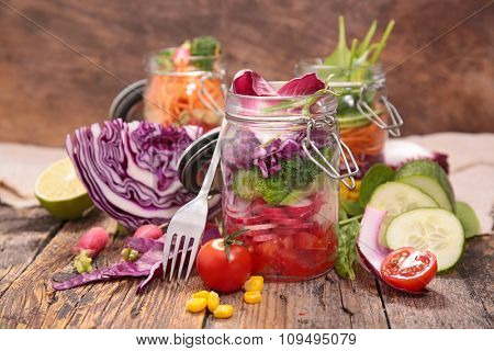 layer salad in jar
