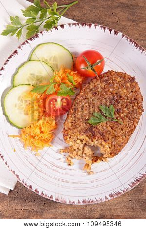 bulgur like steak and vegetable