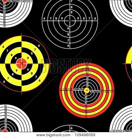 targets for practical pistol shooting, seamless wallpaper, vecto