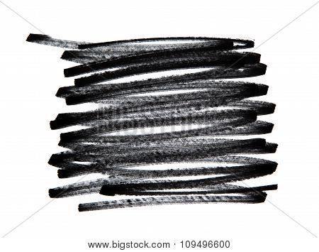 Scribble, Pencil Stroke, Isolated On White
