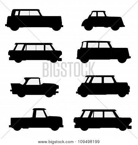 Set Of Classical Cars.