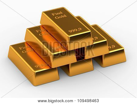 Gold Isolated On White