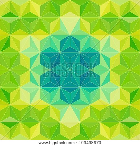 Green Modern Psychedelic Pattern