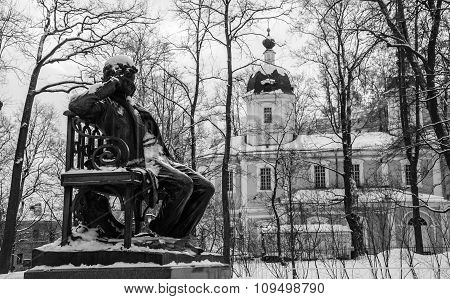 Monument to the great poet Pushkin