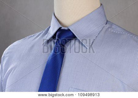 New shirt with necktie, studio shot