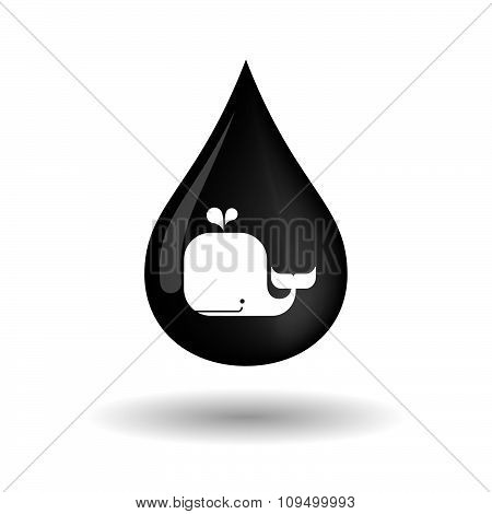Vector Oil Drop Icon With A Whale