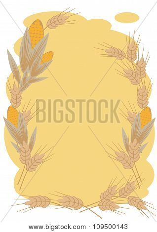 Wheat And Corn Frame