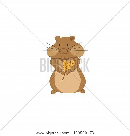 Hamster With Ears Of Wheat