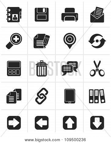 Black internet Interface Icons