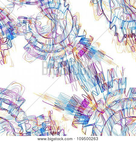 Moving colorful lines of abstract background?seamless