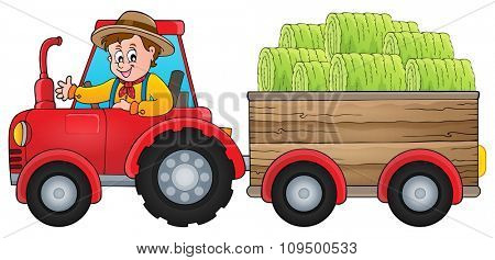 Tractor theme image 1 - eps10 vector illustration.