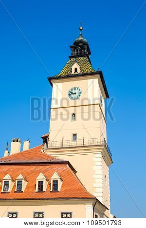 The old town hall tower at council square, Brasov