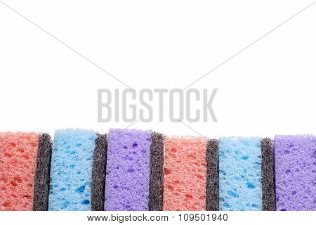 Scouring Pads , Cleaning Items In Several Colors