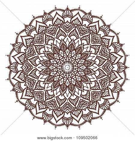 Mandala. Drawing By Hand.