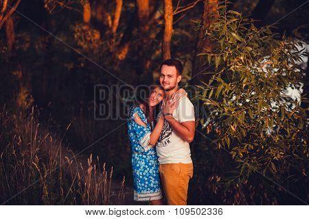 Cute Couple Embracing