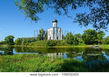 Church Of Intercession On Nerl Near Village Bogolyubovo, Russia