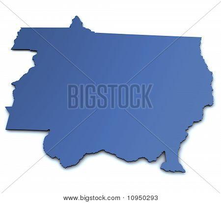 Map of Mato Grosso - Brazil