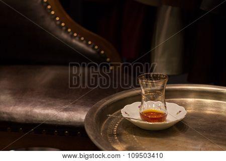 empty tea glass