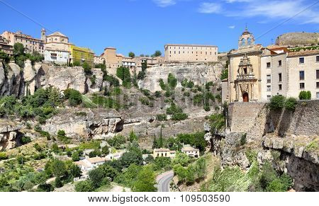 Panoramic view of Cuenca, Spain.