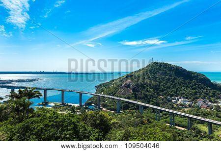 The beautiful city of Vitoria in Espirito Santo, Brazil