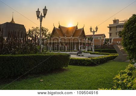 Wat Ratchanaddaram And Loha Prasat Metal Palace