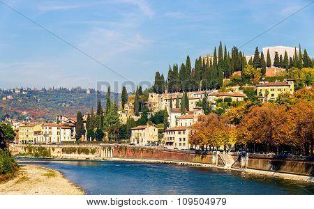 View Of San Pietro Hill In Verona - Italy
