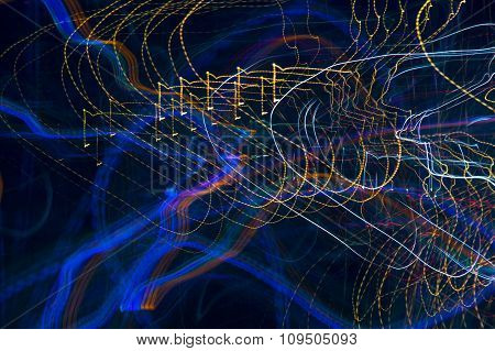 Abstract Pattern Of City Lights