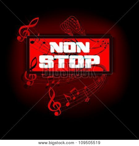 Sign That Says Non-stop Musical Notes