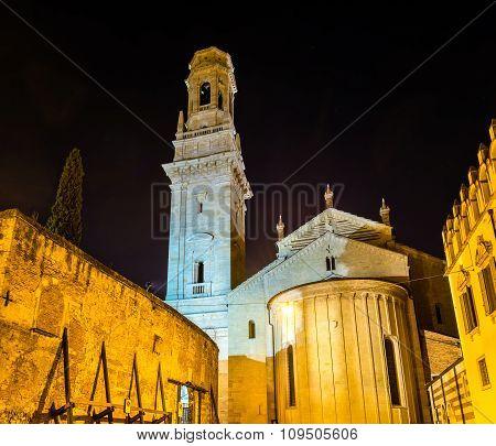 Santa Maria Matricolare Cathedral Of Verona - Italy