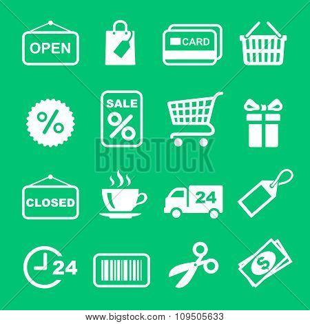 Web icon set. Shopping pictogram