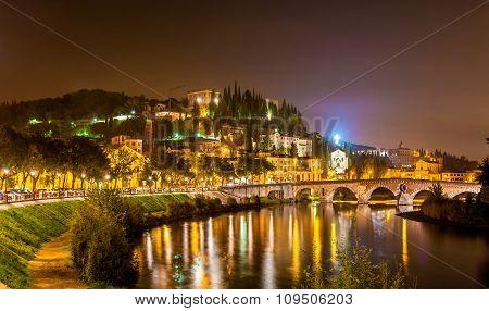 Hill With Castel San Pietro In Verona