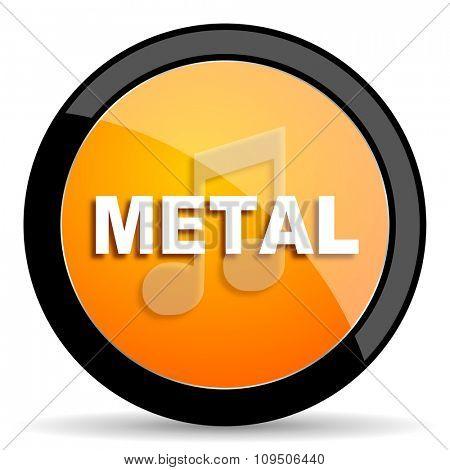 metal music orange icon