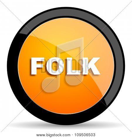 folk music orange icon