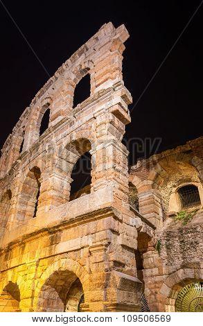The Verona Arena, A Roman Amphitheatre In Italy