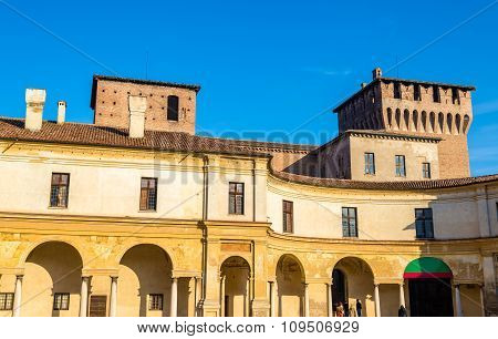 View Of Palazzo Ducale On Piazza Castello In Mantua - Italy