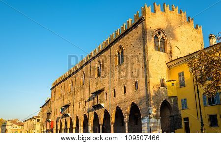 Facade Of The Palazzo Ducale In Mantua - Italy