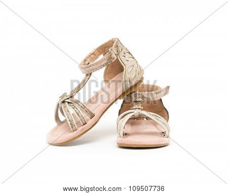 girl shoes isolated on white