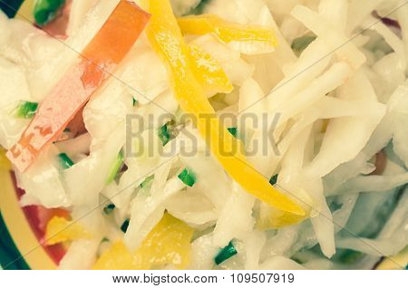 Vegetarian Salad Sauerkraut With Vegetables