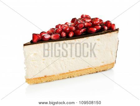 Cheesecake With Chocolate And Pomegranate