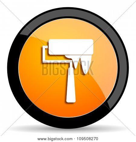 brush orange icon