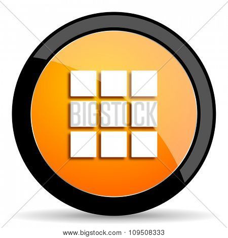 thumbnails grid orange icon