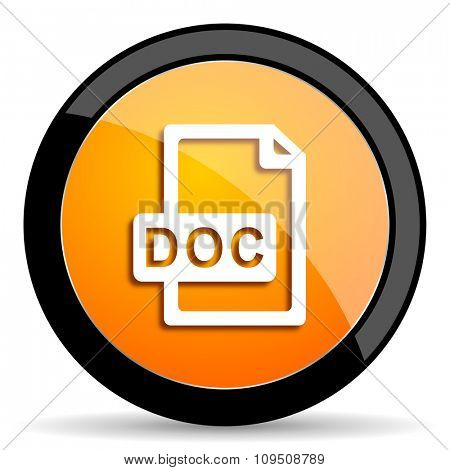 doc file orange icon