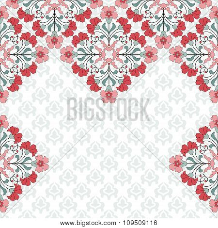 Invitation card with floral ornament.