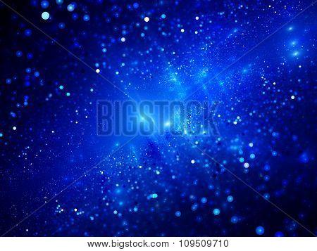 Blue Glowing Deep Space Fractal
