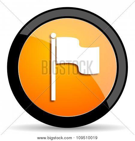 flag orange icon