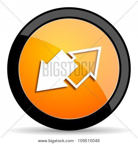 exchange orange icon