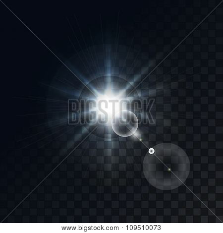 Vector bright star on a dark background