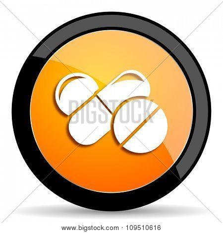 medicine orange icon