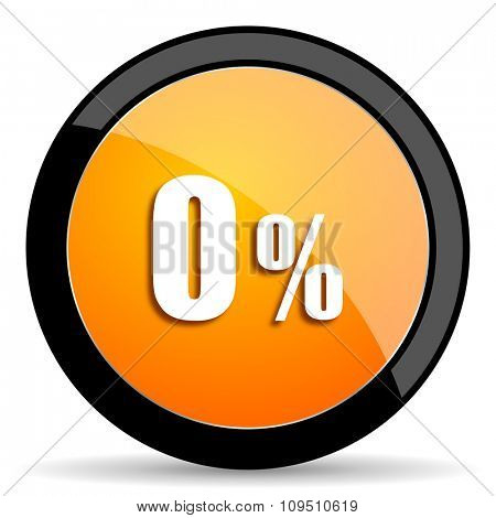 0 percent orange icon