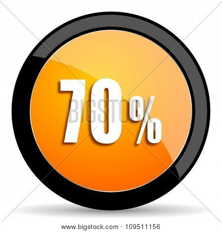 70 percent orange icon